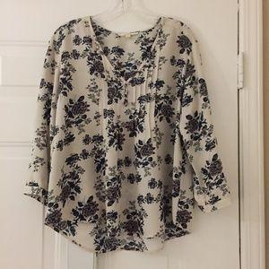 Pretty Stitchfix romantic blouse floral print